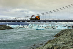 Jokulsarlon Bridge, Iceland Royalty Free Stock Photos