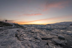 Jokulsarlon em Islândia Fotografia de Stock