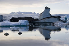 Jokulsarlon Floating Icebergs Royalty Free Stock Photography