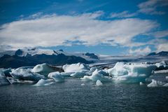 Jokulsarlon glaciärlagun i Island Arkivbild