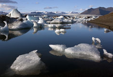Jokulsarlon glacial lagoon in Iceland Stock Photography