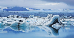 Jokulsarlon Glacial Lagoon, Iceland stock photo