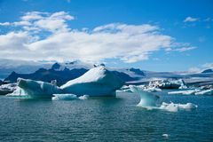 Jokulsarlon Glacial Lagoon in Iceland Stock Photo