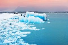 Jokulsarlon glacial lagoon, Iceland. Royalty Free Stock Photo