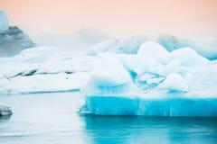 Jokulsarlon glacial lagoon, South Iceland Stock Images