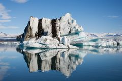 Jokulsarlon glacial lake in Iceland Stock Photo