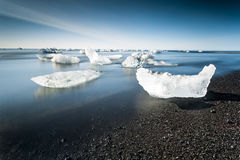 Jokulsarlon glaciar lagun Arkivfoton