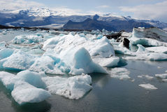 Jokulsarlon glacier and Glacier lagoon- Iceland Stock Photos