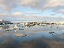 Jokulsarlon, glacier lagoon royalty free stock photo