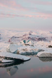 Jokulsarlon Glacier Lagoon. Dawn at Jokulsarlon Glacier Lagoon - Iceland Royalty Free Stock Photos