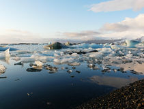 Jokulsarlon, glacier lagoon in Iceland Royalty Free Stock Photography