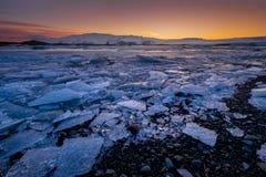 Jokulsarlon Glacier Lagoon - southeast Iceland. Jokulsarlon is a large glacial lake in southeast Iceland, on the edge of Vatnajökull National Park Royalty Free Stock Photography