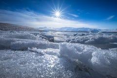 Jokulsarlon Glacier Lagoon - southeast Iceland. Jokulsarlon is a large glacial lake in southeast Iceland, on the edge of Vatnajökull National Park Stock Images
