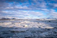 Jokulsarlon Glacier Lagoon - southeast Iceland. Jokulsarlon is a large glacial lake in southeast Iceland, on the edge of Vatnajökull National Park Royalty Free Stock Photos