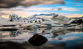 Jokulsarlon glacier lagoon Royalty Free Stock Photography
