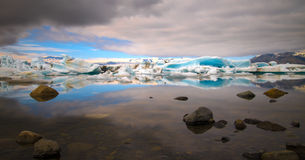 Jokulsarlon glacier lagoon Royalty Free Stock Photo