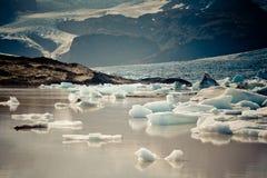 Jokulsarlon Glacier Lagoon in Vatnajokull National Park, Iceland Royalty Free Stock Photos
