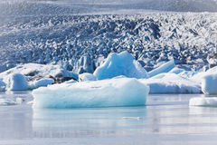 Jokulsarlon Glacier Lagoon in Vatnajokull National Park, Iceland Royalty Free Stock Images