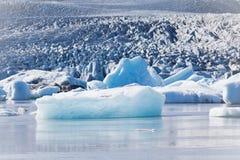 Jokulsarlon Glacier Lagoon in Vatnajokull National Park, Iceland Royalty Free Stock Images