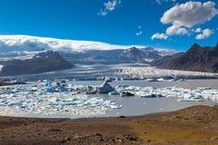 Jokulsarlon Glacier Lagoon in Vatnajokull National Park, Iceland Royalty Free Stock Image