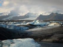 Jokulsarlon, glacier lake stock image