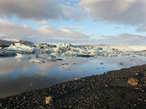 Jokulsarlon, glacier lake royalty free stock photos