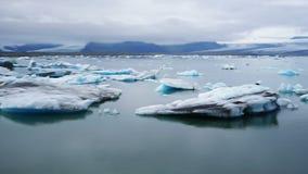 Jokulsarlon Glacjalna rzeczna laguna Iceland Vatnajokull park narodowy zbiory wideo
