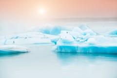Jokulsarlon Glazial- Lagune, Island lizenzfreie stockbilder