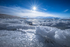 Jokulsarlon-Gletscher-Lagune - Südost-Island Stockbilder