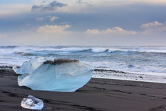 Jokulsarlon Ice Beach Stock Images