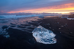 Jokulsarlon ice beach, Iceland Stock Photography