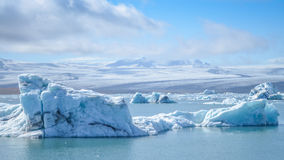 Jokulsarlon. The jokulsarlon ice glacier in Iceland royalty free stock images