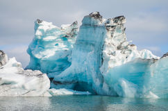 Jokulsarlon Ice Lagoon. Icebergs on the Jokulsarlon Ice lagoon in summer royalty free stock images