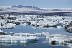 Jokulsarlon ice lagoon, Iceland. Stock Photos