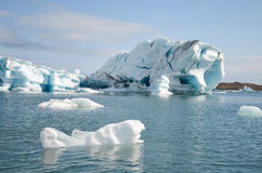Jokulsarlon. Ice Lagoon during summer in Iceland royalty free stock photos