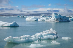 Jokulsarlon. Ice Lagoon during summer in Iceland stock photography