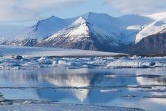 Jokulsarlon ice melting lake Royalty Free Stock Image
