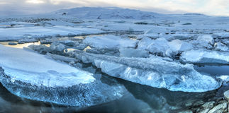 Jokulsarlon Iceberg Panorama Stock Photography