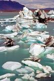Jokulsarlon, Iceland. Icebergs in the glacier lake Jokulsarlon, Iceland Royalty Free Stock Photos
