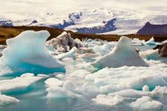 Jokulsarlon, Iceland. Icebergs in the glacier lake Jokulsarlon, Iceland Stock Photos
