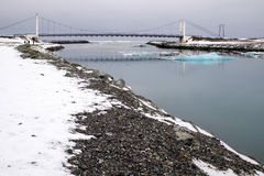 JOKULSARLON/ICELAND - FEB 03: Widok Jokulsarlon lodu laguna Ic Obraz Stock