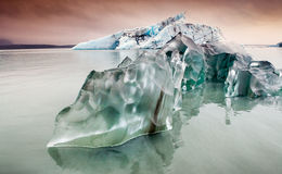 Jokulsarlon, Iceland - ice calved from the jokulsarlon glacier Stock Photos