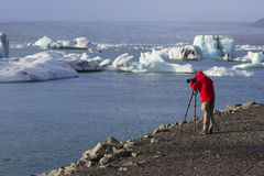 Jokulsarlon, Iceland, November 2nd, 2014, Photographer stock images