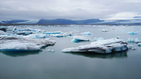 Jokulsarlon Ijzige rivierlagune ijsland Vatnajokull Nationaal Park stock video