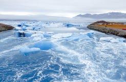 Jokulsarlon islagun Sydöstlig Vatnajokul nationalpark iceland royaltyfri fotografi