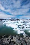 Jokulsarlon Lagoon. Amazing Jokulsarlon Lagoon with melting icebergs Stock Image