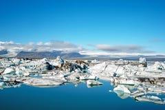 Jokulsarlon lagoon icebergs stock image