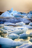 Jokulsarlon Lagoon. Icebergs floating in Jokulsarlon Lagoon by the southern coast of Iceland Royalty Free Stock Images