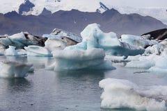 Jokulsarlon lagoon, Iceland. Blue iceberg floating on Jokulsarlon lagoon, Iceland Stock Photography