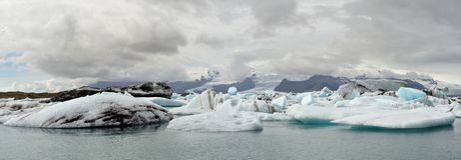 Jokulsarlon lagoon in Iceland Stock Photography